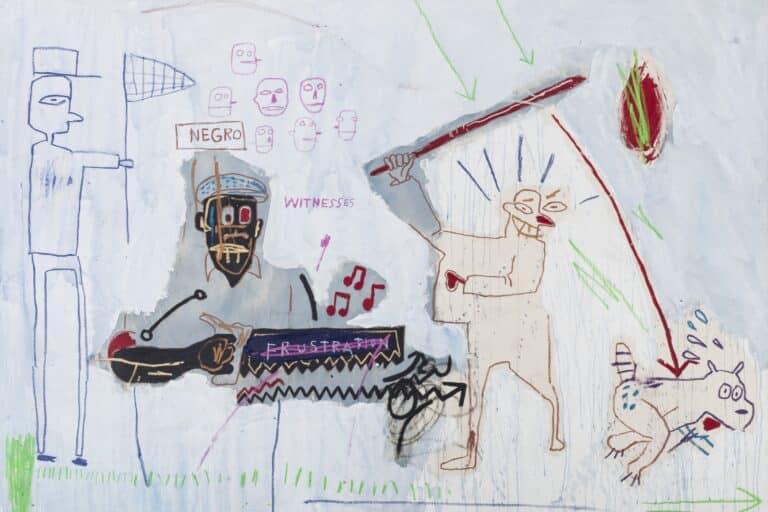 Jean-Michel Basquiat, Blue Gyp Stock, 1983, Acryl und Wachskreide auf Leinwand, Ludwig Forum für Internationale Kunst Aachen, Leihgabe der Peter und Irene Ludwig Stiftung / © VG Bild-Kunst Bonn 2020, Foto: Carl Brunn